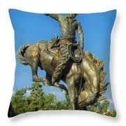 Bronco Buster - Denver Throw Pillow