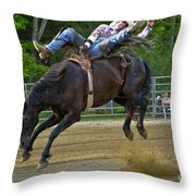 Bronco Cowboy Throw Pillow