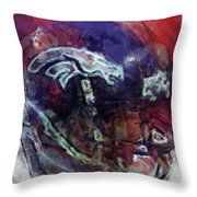 Broncos Art  Throw Pillow