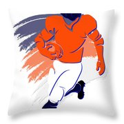 Broncos Shadow Player2 Throw Pillow