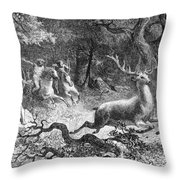 Bronze Age, Hunting Scene Throw Pillow