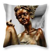 Bronze Beauty Throw Pillow