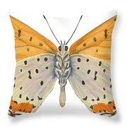 Bronze Copper Butterfly Throw Pillow