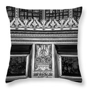 Bronze Crowns In Black Throw Pillow
