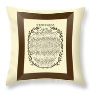 Bronze Frame Antique Desiderata Poem Throw Pillow