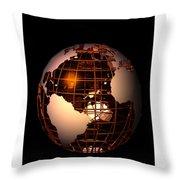 Bronze Globe... Throw Pillow