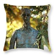 Bronze Man Throw Pillow