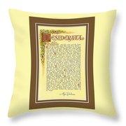 Bronze Matted Florentine Desiderata Poster Throw Pillow