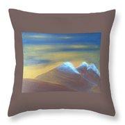 Bronze Mountains Throw Pillow