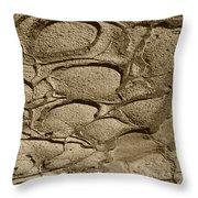 Bronze Mud Patterns 2 Throw Pillow