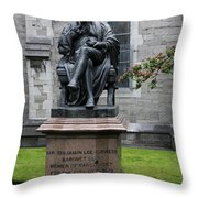Bronze Statue Of Sir Benjamin Lee Guinness  Throw Pillow