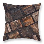 Bronze Tile Squares Throw Pillow