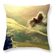 Bronzed Clouds - Vertical Throw Pillow