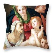 Bronzino's The Holy Family Throw Pillow