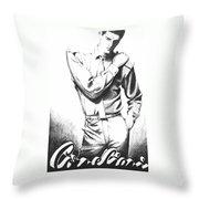 Brooding Man Throw Pillow by Sarah Parks