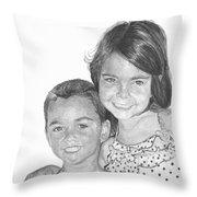 Brooke And Carter Throw Pillow
