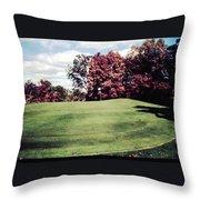 Brookhill Golf Course Throw Pillow