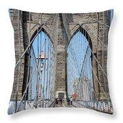 Brooklin Bridge Throw Pillow