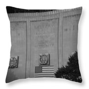 Brooklyn Battery Tunnel In Black And White Throw Pillow