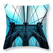 Brooklyn Blues Throw Pillow
