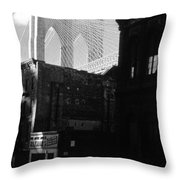 Brooklyn Bridge 1970 Throw Pillow
