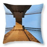 Brooklyn Bridge Abstract Throw Pillow