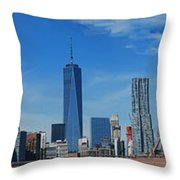 Brooklyn Bridge And Lower Manhattan Throw Pillow