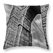 Brooklyn Bridge Arch - Vertical Throw Pillow
