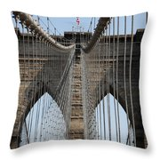 Brooklyn Bridge Cables Nyc Throw Pillow