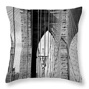 Brooklyn Bridge New York City Usa Throw Pillow