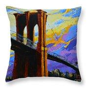 Brooklyn Bridge New York Landmark Throw Pillow