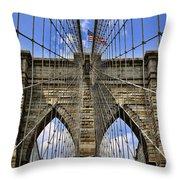 Brooklyn Bridge Ny Throw Pillow