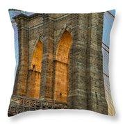 Brooklyn Bridge Tower Throw Pillow