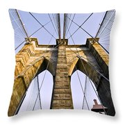 Brooklyn Bridge01 Throw Pillow