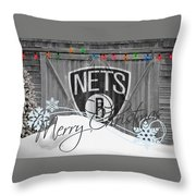 Brooklyn Nets Throw Pillow