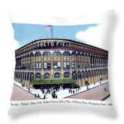 Brooklyn - New York - Flatbush - Ebbets Field - 1928 Throw Pillow