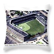 Brooklyn - New York - Flatbush - Ebbets Field - 1940 Throw Pillow