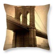 Brooklyn Nostalgia Throw Pillow