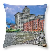 Brooklyn Old Tobacco Warehouse Throw Pillow