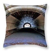Brooklyn Prospect Park Tunnel Throw Pillow