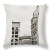 The Beauty Of New York Throw Pillow