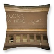 Brooks Was Here Throw Pillow
