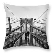 Brookyln Bridge  Throw Pillow