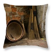 Brooms   #0112 Throw Pillow