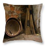 Brooms   #0112 Throw Pillow