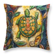 Brother Turtle Vi Throw Pillow