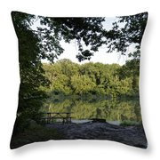 Brother's Fishin' Hole 20140719 Throw Pillow