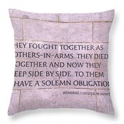 Brother's In Arms  Throw Pillow