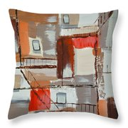Brown Alley 1 Throw Pillow