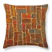 Brown And Gold  Throw Pillow